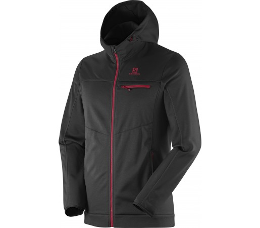 Midlayer Salomon Cruz Hoodie Fz 2 M Black- Red