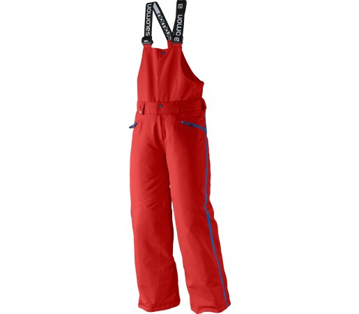 Pantaloni Ski si Snowboard Salomon Incline JR Bib K Red
