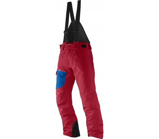 Pantaloni Ski si Snowboard Salomon Chillout Bib M Red
