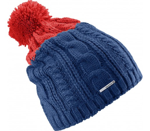 Caciula Salomon Backcountry II Beanie Blue-Red