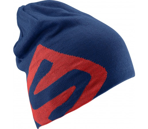 Caciula Salomon Flat Spin Reversible Beanie Blue/Red