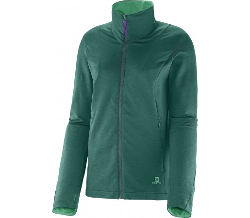 Midlayer Salomon Gualea FZ W Green