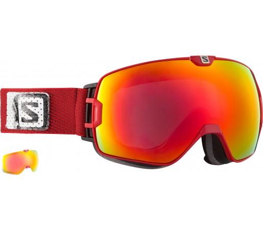 Ochelari Ski si Snowboard Salomon X-Max+Xtralens Red