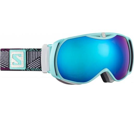 Ochelari Ski si Snowboard Salomon X-Tend Cyan/White