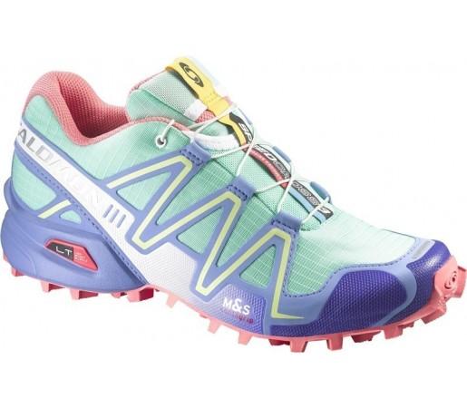 Incaltaminte de alergare Salomon Speedcross 3 W Verde/ Albastru/ Roz