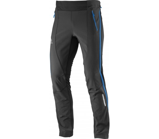 Pantaloni Salomon Momentum Softshell FZ M Negri/Albastri