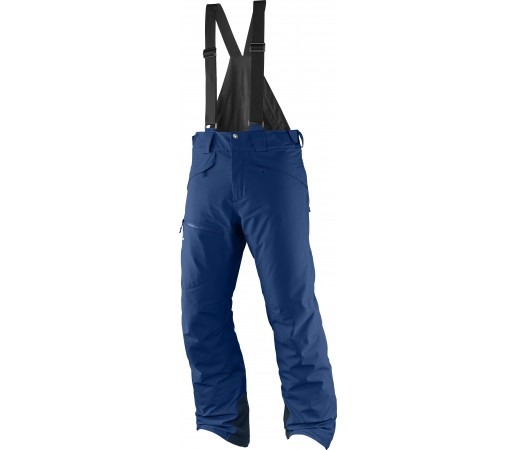Pantaloni de Ski si Snowboard Salomon Chill Out Bib M Albastri