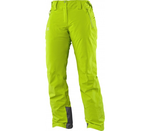Pantaloni de Ski si Snowboard Salomon Iceglory W Verzi
