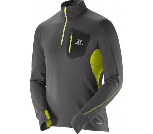 Bluza Salomon Trail Runner Warm LS Zip T M Gri