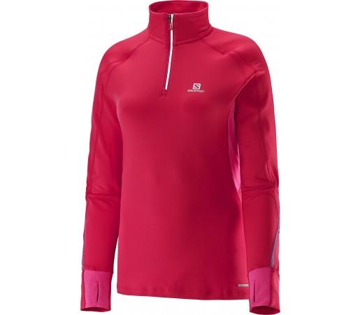 Bluza Salomon Trail Runner Warm LS Zip T W Roz