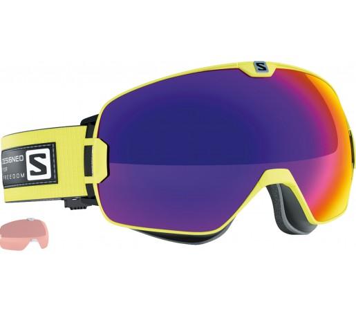 Ochelari Schi si Snowboard Salomon X-Max Green +Xtralens