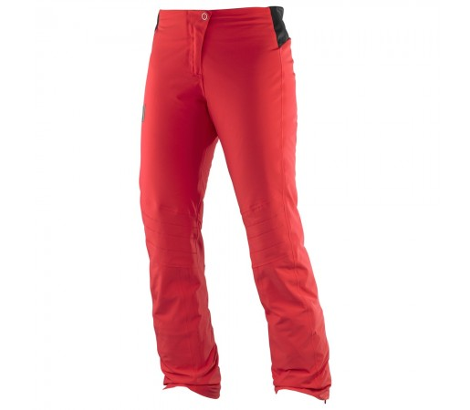 Pantaloni schi si snowboard Salomon W Whitelight Rosii