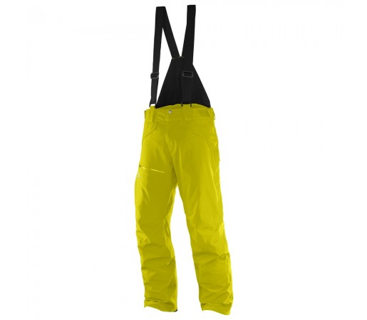 Pantaloni schi si snowboard Salomon M Chill Out Bib Galbeni