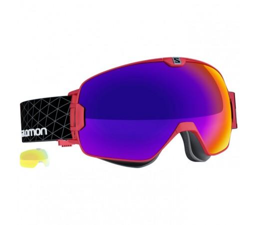 Ochelari schi si snowboard Salomon M X-Max + Light Yellow Rosii
