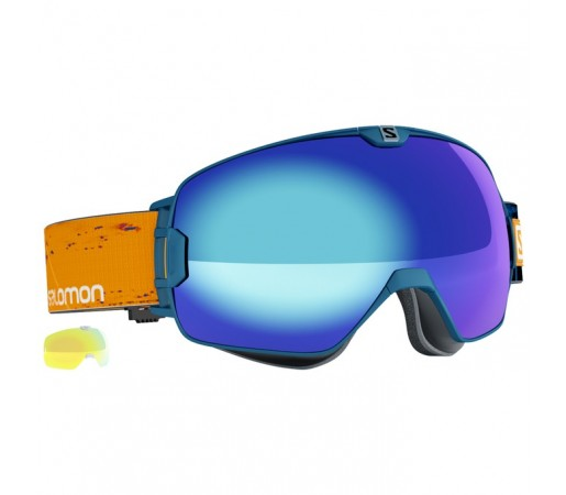 Ochelari schi si snowboard Salomon X-Max + Light Yellow Bleumarin