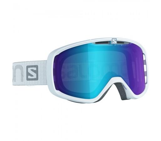 Ochelari schi si snowboard Salomon Aksium Albi/Albastri