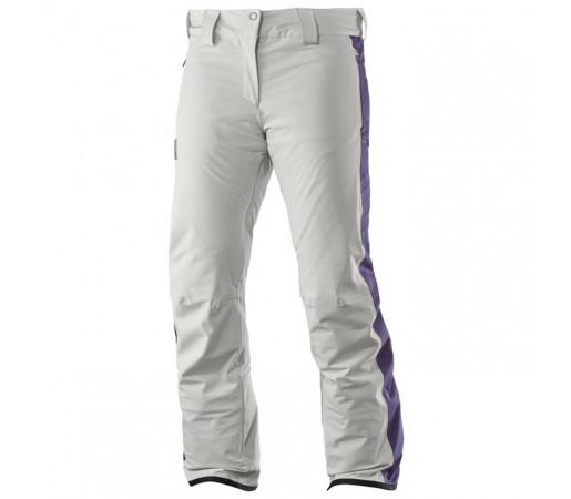 Pantaloni schi si snowboard Salomon W Whitedream Albi