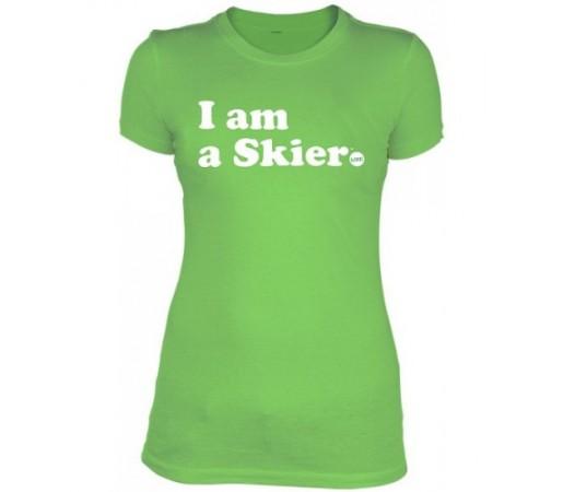Tricou Line W Skier Forever Verde