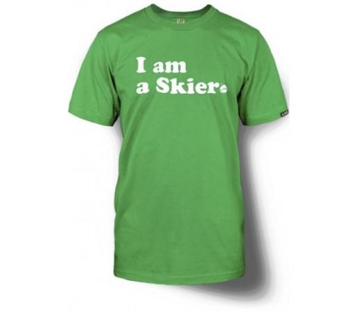 Tricou Line Skier Forever Verde