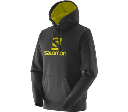 Hanorac Salomon Logo Hoodie M Negru/Galben