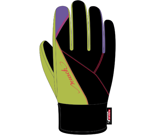 Manusi Schi Reusch Yoko R-TEX XT Black /Bright green /Passion flower