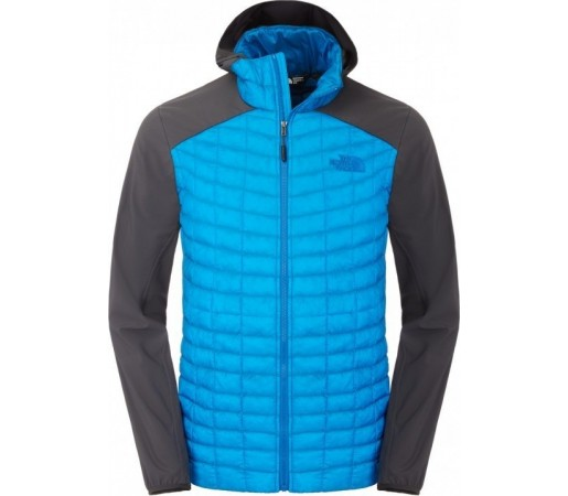 Geaca The North Face M Thermoball Hybrid Hoodie Albastru/Gri