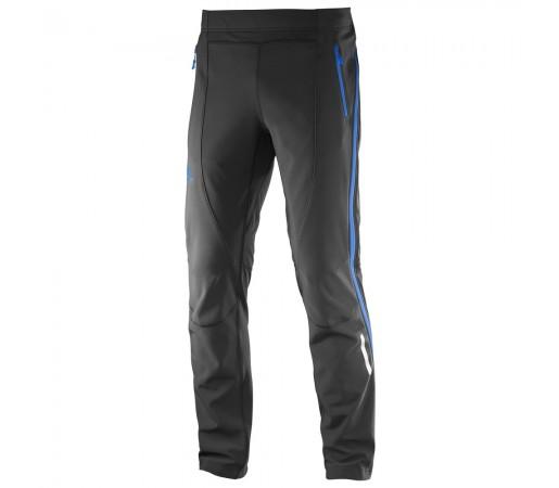 Pantaloni schi nordic Salomon Momemtum Softshell Fz Pant M Negri/Albastri