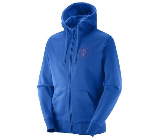 Hanorac Salomon Mtn Branding Fz Hoodie M Albastru