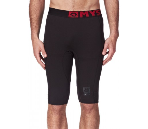 Pantaloni First Layer Mystic Bipoly M Short Pant Black/Red