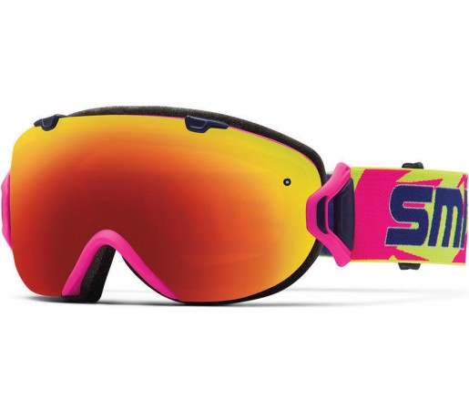 Ochelari Schi si Snowboard Smith I/OS Neon Archive / Red Sol-X mirror