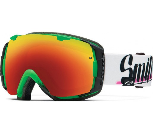 Ochelari Schi si Snowboard Smith I/O Neon Baron von fancy/Red Sol-X mirror