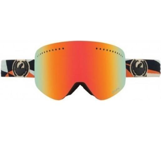 Ochelari Schi si Snowboard Dragon NFX Dap Gri / Red Ion + Blue Steel