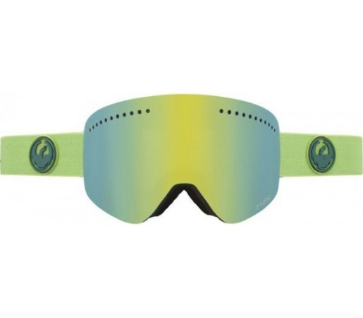 Ochelari Schi si Snowboard Dragon NFX Grass Heather Verde  / Smoke Gold + Yellow