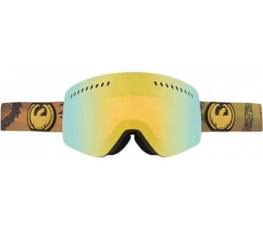 Ochelari Schi si Snowboard Dragon NFXS Chris Benchetler Auriu / Gold Ion + Yellow Blue Ion