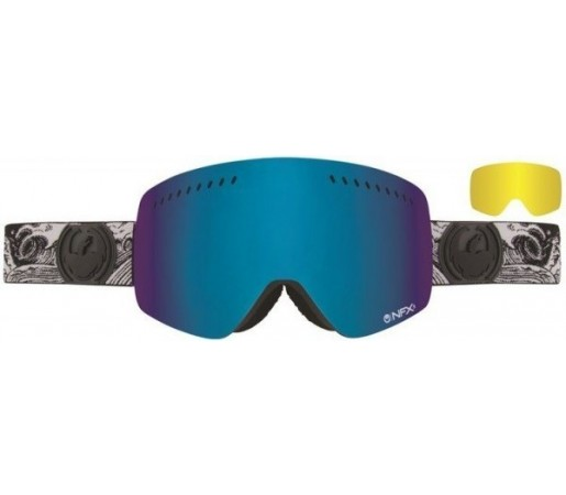 Ochelari Schi si Snowboard Dragon NFXS Nozakai Dap Mov / Dark Smoke Blue + Yellow Blue Ion