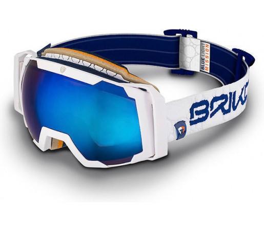 Ochelari Schi si Snowboard Briko Alfa Nastek White/Blue