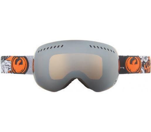 Ochelari schi si snowboard DRAGON APXS Spooky DAP / Jet Ionized + Yellow Blue Ionized