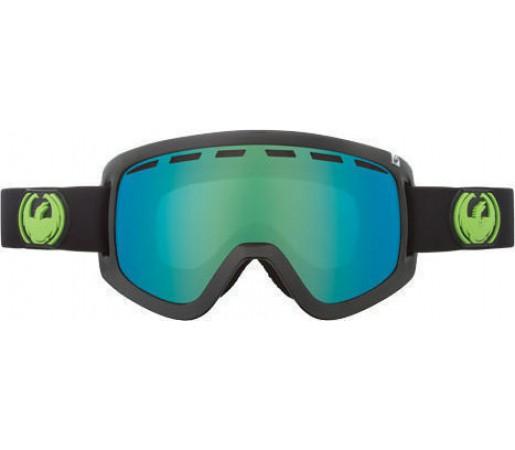 Ochelari Ski DRAGON D1 Jet Negru / Green Ion + Yellow Blue Ion