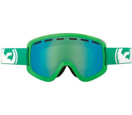 Ochelari Ski DRAGON D1 Solid Green-Green Ionized / Amber