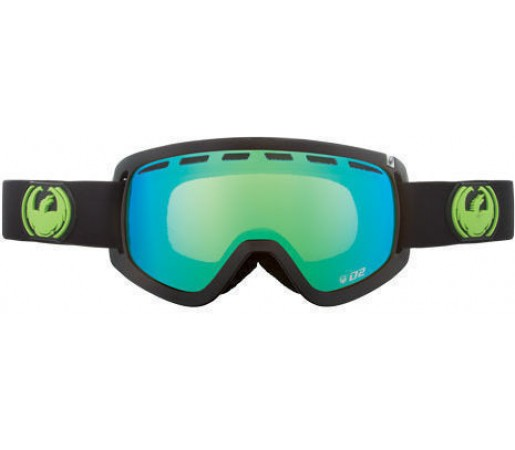 Ochelari Ski DRAGON D2 Jet Green Ionized /YellowBlueIonized