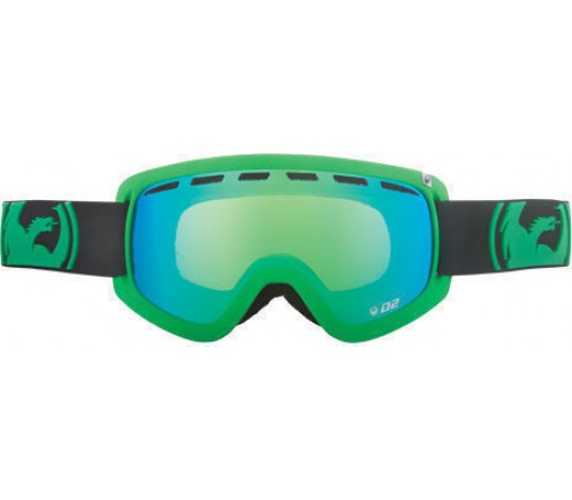 Ochelari Ski DRAGON D2 Pop Green-Green Ionized / Amber