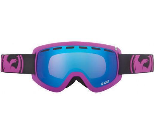 Ochelari Ski DRAGON D2 Pop Purple Blue Ionized  / Amber