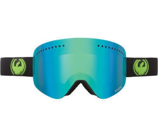 Ochelari Schi si Snowboard DRAGON NFXS Jet Green / Ionized + Yellow Blue Ionized