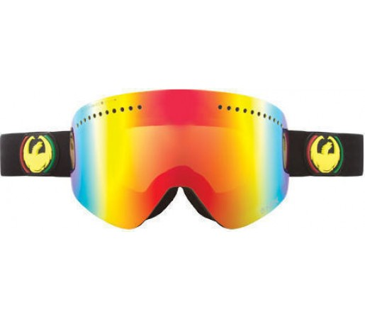 Ochelari Ski DRAGON NFX Rasta Red Ionized / YellowBlueIonized