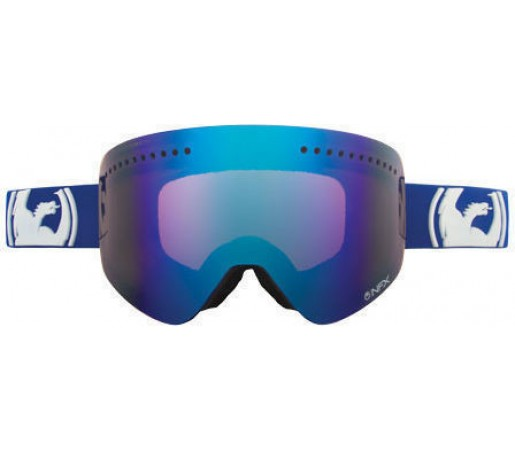 Ochelari Ski DRAGON NFX Solid Navy Blue Steel / Amber