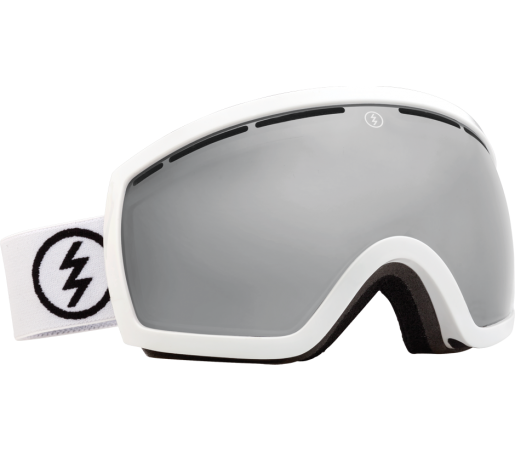 Ochelari Ski ELECTRIC EGB2 Gloss White Bronze/Silver Chrome