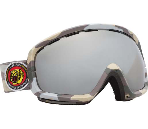 Ochelari Ski ELECTRIC EGB2s Snow Camo Bronze/Silver Chrome
