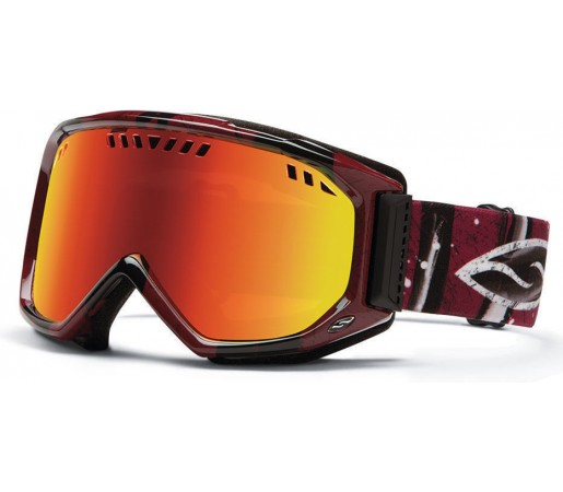 Ochelari Ski si Snowboard Smith SCOPE Oxblood Batik/ Red Sol-X