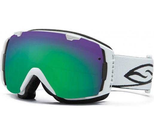 Ochelari Ski si Snowboard Smith I/O White/ Green Sol-X lens