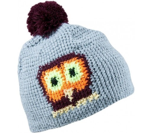 Caciula Kask Owl (Crochet Handmade) Light Grey 2013